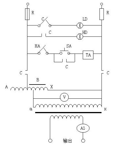 青岛莱特大电流发生器的工作原理:接入工作电源后,通过调整调压器输出